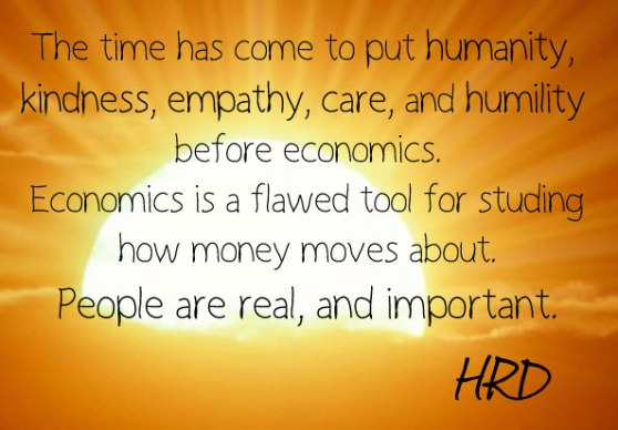humanity before economics